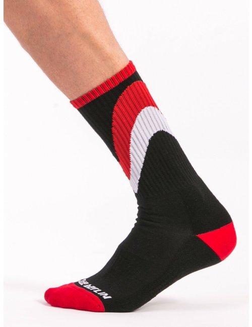 barcode Berlin Fashion Socks Initiale schwarz/rot/weiß