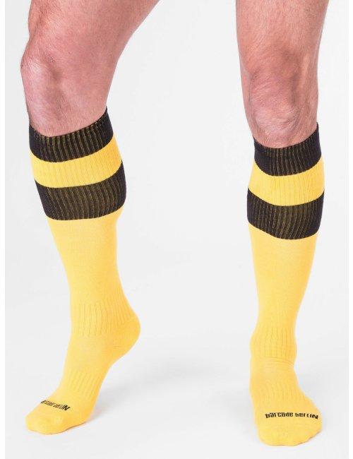 barcode Berlin Football Socks gelb/schwarz