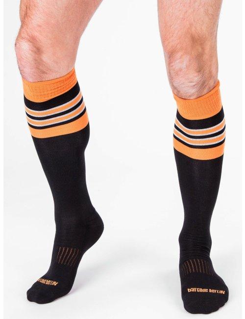 barcode Berlin Football Socks schwarz/orange