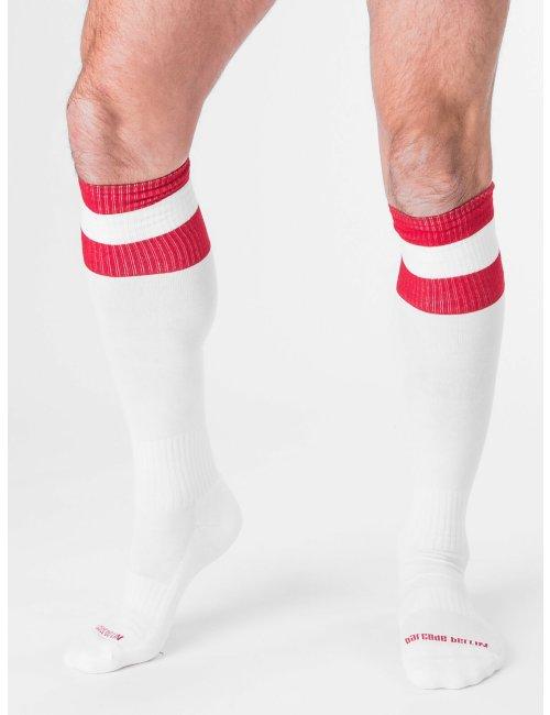 barcode Berlin Football Socks weiß/rot