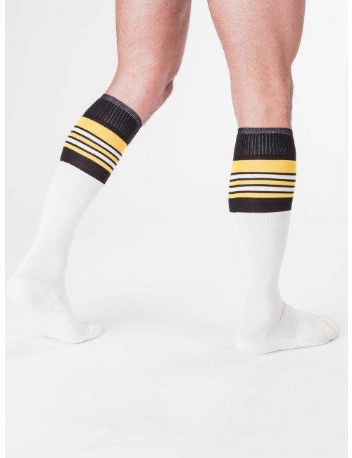 barcode Berlin Football Socks weiß/schwarz/gelb