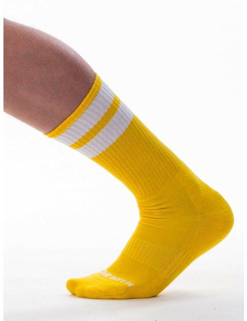 barcode Berlin Gym Socks gelb/weiß L/XL
