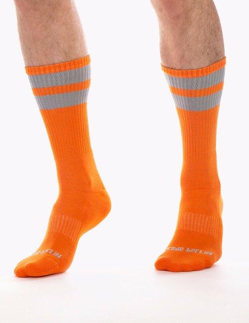 barcode Berlin Gym Socks neonorange/grau