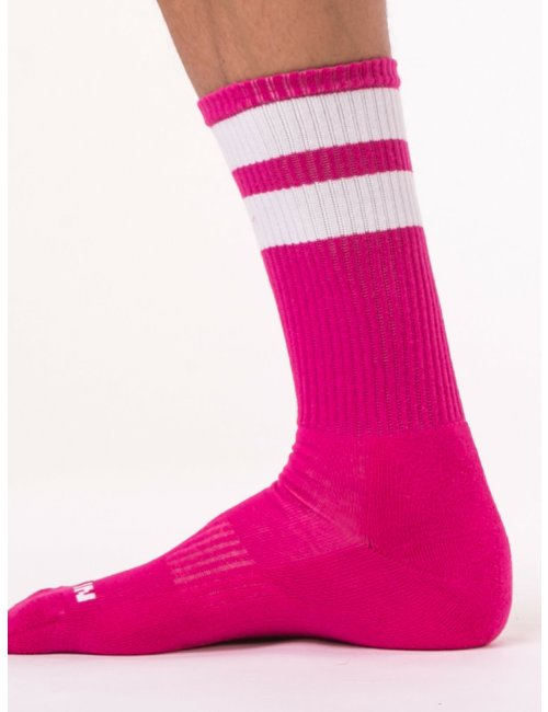 barcode Berlin Gym Socks pink/weiß