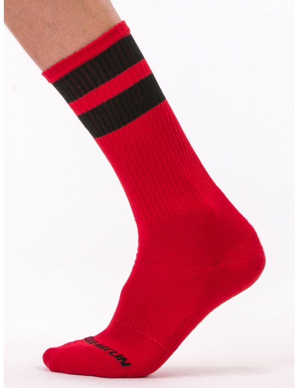 barcode Berlin Gym Socks rot/schwarz