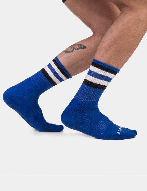 barcode Berlin Half Socks Stripes blau