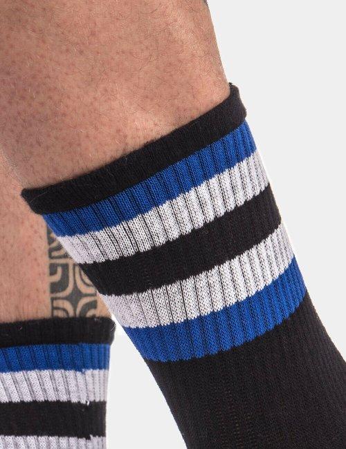 barcode Berlin Half Socks Stripes schwarz